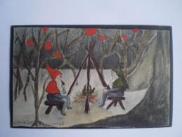 Kinderkaart // Illustrator // Corrie Offems - Stokdyk? // GNOMES // Ca 1936