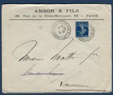 France - Enveloppe Commerciale De Paris Pour La Suisse En 1914     Voir 2 Scans - Réf. S 68 - Marcophilie (Lettres)
