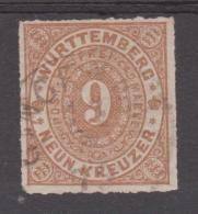 ALLEMAGNE. WURTEMBERG    YVERT N°40  Used  Réf  G 164 - Wuerttemberg