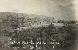 55 VERDUN - BELLE CARTE PHOTO 1918  - LE FORT DE VAUX - Verdun