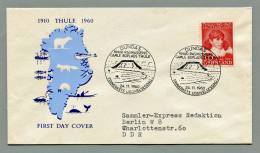 Grönland - Greenland 1960 | Mi. 45 FDC | Thule-Knud Rasmussen - FDC