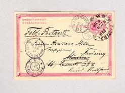 Chian PAOTING 4.4.1901 Ganzsache 1Ct Nach München Weiter Freising K D Feldpoststation Und Ankunftsstempel - Chine