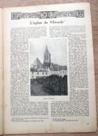 "Magazine Avec Article ""Eglise De Vilvoorde"" 1924 - Oude Documenten"