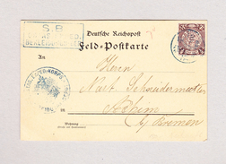 China TIENTSIN 23.9.1906 Postkarte Mit Half Cent Dragon Nach Achim Bremen - Lettres & Documents