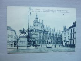 ANVERS - ANTWERPEN - Statue Léopold I Et Banque Nationale - Antwerpen