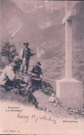 Faucheurs Aiguisant Leurs Faux à La Montagne, Mähergruppe (cpn C 6) - Elevage