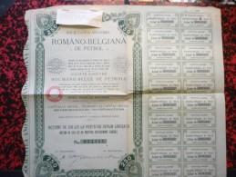 Romano-Belgiana De Petrol Action De 250 Lei - Acciones & Títulos