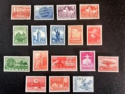 1949-1974 UPU Mi.-Nr.320 *)+16 Other Stamps Mi.-Nr.319*)-579*) - Danemark