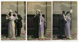 5 Postcards - SPAIN, Romantic Couple, EL CONDE DE LUXEMBURGO, Vals De Los Besos  ( 3 Scans ) - Fantaisies