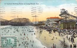 USA - Long Beach - A Typical Bathing Scene At Long Beach - Long Beach