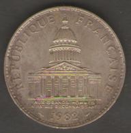 FRANCIA 100 FRANCS 1982 AG SILVER - Commemorative