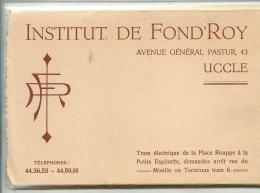 Uccle Ukkel Fond'Roy ( Rare Carnet COMPLET De 12 Vues à 2,50 Pièce ) - Uccle - Ukkel