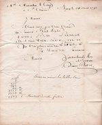 Lettre De 1792 Adressée à M. Montauban, Directeur Faïencerie Saint Clément Par Bertrez, Nancy - 1800 – 1899