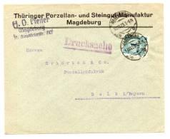 DR MiNr 314 Als Ef  Auf Drucksache MAGDEBURG; 10.10.23; Gepr - Deutschland