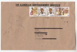 1985 Zambia ZAMBIAN GOVERNMENT SERVICE COVER Stamps To Germany - Zambia (1965-...)