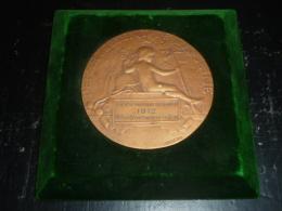 """SUPERBE MEDAILLE - DANS SON ECRIN MURAL """" DEPARTEMENT DE LA SEINE """" SOCIETE NAUTIQUE DE LA SEINE 1912 - Décoration Maritime"""