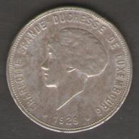 LUSSEMBURGO 10 FR 1929 AG SILVER - Lussemburgo