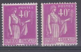 FRANCE  VARIETE   N° YVERT / N°  MAURY 281   TYPE PAIX NEUFS LUXE - Variétés: 1931-40 Neufs