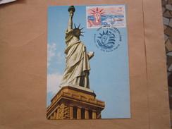 Premier Jour 4 Juillet 1976 Miss Liberty                  18-8 R - Lettres & Documents