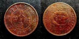CHINA - RARE 10 CASH  COPPER - TSINGKIANG = KIANGSU - CHINKIANG  PROVINCE - DYNASTIE QING  CHINE - China
