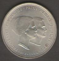DANIMARCA 10 KRONER 1967 AG SILVER - Danimarca