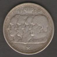 BELGIO 100 FRANCHI 1950 AG SILVER - 1945-1951: Reggenza