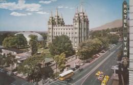 """G , Cp , ÉTATS-UNIS , SALT LAKE CITY , Temple Square , Stands The Spired """"Mormon"""" Temple - Salt Lake City"""