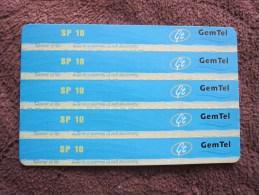 GemTel  Prepaid Phonecard,used - Sudan