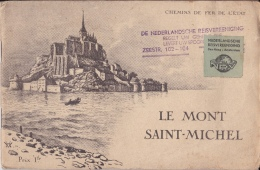 16 / 9 / 72 -   LE  MONT  SAINT-MICHEL  - HISTOIRE  ET  PHOTOS  & GRAVURES -21CM X 14 - France