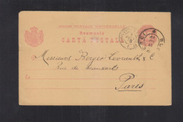 Romania Stationery Libraria Socec & Cie. 1888 To France - Ganzsachen
