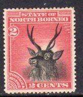 North Borneo 1894 2c Sambar Stag, Perf. 14½-15, Hinged Mint, SG68 - Noord Borneo (...-1963)