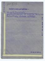 INDIA - 1956 AEROGRAMME TO FLORIDA - STAMP - - Aerograms