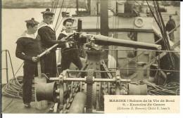 CPA Marine : Scènes De La Vie De Bord, Exercice Du Canon  12964 - Altri