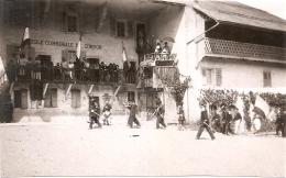 Savoie  Les Pompiers De Combloux Commune De Cordon 1924 - Lieux