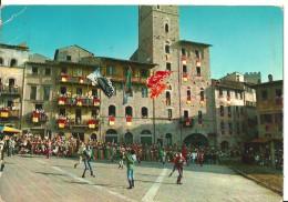 Arezzo (Toscana) Giostra Del Saracino, Sbandieratori, Agitateurs Des Drapeaux, Flag Displayer - Arezzo