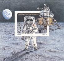 # 175 SPACE, MOON LANDING, BLOCK, POLAND - Space