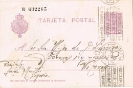 19177. Entero Postal LOGROÑO (Rioja) 1928.  Rodillo Correos, Num 57na