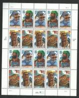 Etats-Unis N° 2525 / 28 F XX Héros Populaires,  La Feuille De 20 Valeurs ( 1 Ssérie Et 4 Blocs De 4)  Sans Charnière TB - Unused Stamps