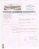 ENTETE TISSAGE KIENTZ SCHERWILLER ELSENHEIM MUTTERSHOLTZ - Non Classés