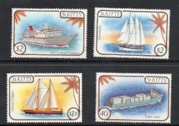 1985 St. Kitts Ships   Complete Set Of 4 MNH - St.Kitts En Nevis ( 1983-...)