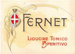 "06285 ""FERNET - LIQUORE TONICO DIGESTIVO"" ETICH. ORIG. - ORIG. LABEL - Etichette"