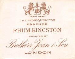 "06291  ""RHUM KIN(C)STON IMPORTED BY  BROTHERS JOAN & SON LONDON"" ETICH. ORIG. - ORIG. LABEL - Rhum"