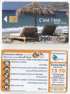 Algérie Télécarte Oria Série C'est L'été Plage Palmiers Sable It's Summer Palm Beach Sand - Algeria