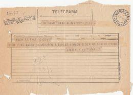 TELEGRAMME SENT FROM VIENNA TO CLUJ NAPOCA, 1929, ROMANIA - Télégraphes