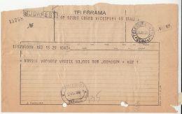 TELEGRAMME SENT FROM TISZALOK TO CLUJ NAPOCA, 1930, ROMANIA - Télégraphes
