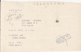TELEGRAMME SENT LOCO IN CLUJ NAPOCA, 1981, ROMANIA - Télégraphes