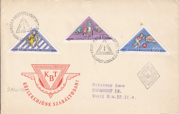 TRAFFIC SAFETY, PEDESTRIANS, CARS, CHILDRENS, COVER FDC, 1964, HUNGARY - Accidents & Sécurité Routière