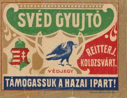 REITTER JOZSEF-CLUJ NAPOCA MATCHES FACTORY, MATCHBOX LABEL, BEFORE 1931, ROMANIA - Publicités