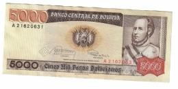 Bolivia 5000 Pesos 1984 AUNC- - Bolivia