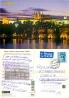 Praha, Czech Republic Postcard Posted 2010 SLOVAKIA Stamp - Czech Republic